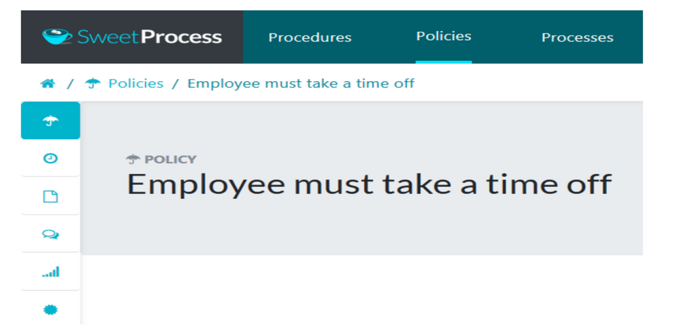 Click on the policy you want to relate or attach to a procedure.