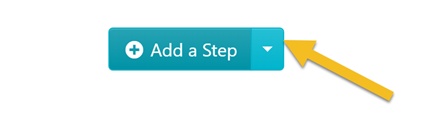 "Click on the downward facing arrow to the right of the ""Add a Step"" button."