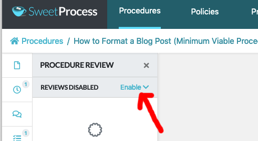 "After the review sidebar window opens up click on the ""Enable"" button."